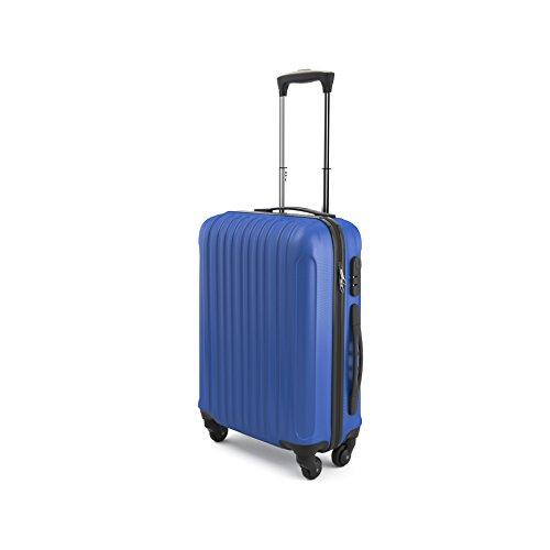 7 - Eglemtek ABS Maleta Equipaje de mano cabina rígida ligera con 4 ruedas, 55cm ,trolley cáscara dura color azul