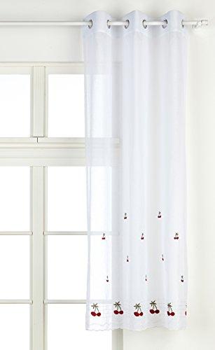 Export Trading Eden Keers - Cortina, color blanco/ rojo, talla 100 x 150 cm