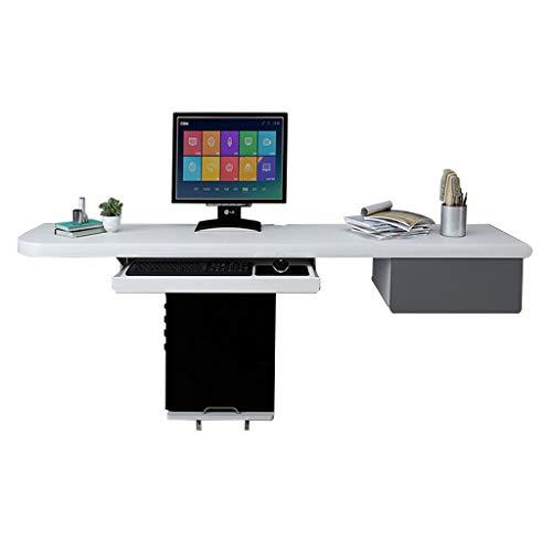 Wand-Drop-Leaf-Tisch Schlafzimmer Doppel-Desktop-Computer Schreibtisch Kleine Wohnung Multifunktions-Schreibtisch mit Schublade (140 / 160x38cm) -