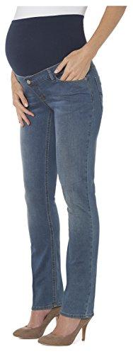 ESPRIT Maternity Damen Straight Leg Umstands Jeans O8C008, Gr. 34 (Herstellergröße: 34/32), Blau (Stonewash 930) (Stonewash Leg Jeans)