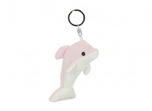 Schlüsselanhänger Delfin rosa, aus Plüsch, Tier Tiere, Delfine Fische