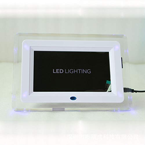yl Multifunktions-Fotorahmen Elektronisches Album LED-HD Videowiedergabe USB Und SD Kartensteckplätze Und Fernbedienung,White ()