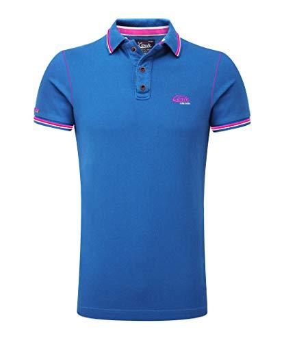 M.Conte Herren Poloshirt Kurzarm Stretch Polohemd T-Shirt Polo-Shirts für Herren Pique Basic Men's Plain Royal Blau S M L XL XXL XXXL Romano (L, Blau Royal ...) -