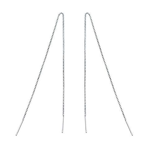 Fashmond Ohr-Draht Ohrgehänge lang Ohrringe ValentinstagGeschenke für sie Damen 925 Sterling Silber