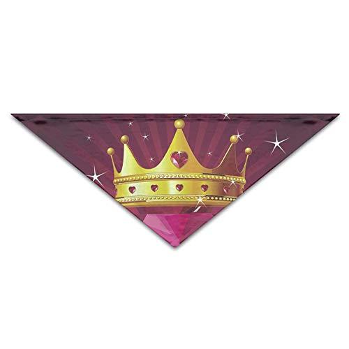 saibing Cute Diamond Heart Crown Polyester Fiber 100% Pet Scarf Dog Bandana Collars 100% Polyester Diamond