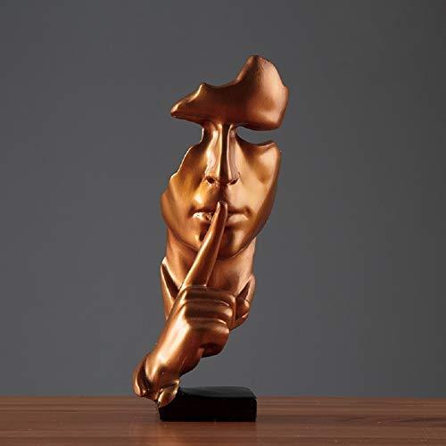 LWZY Resina Silencio es Oro Gente estatuas esculturas,Artes