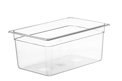 LIPAVI C15 Sous Vide Wasserbad - 18 Liter, 45x29xH:20 cm. Starkes, durchsichtiges Polycarbonat - Passende Deckel* für Anova und weitere Marken - Passt zu LIPAVI Gestell L15* - *Separat verkauft.