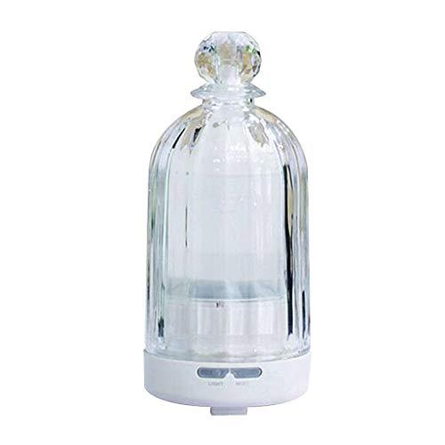 Humidificateur d'arome plug-in de bureau 100ml créatif huile essentielle diffuseur brouillard à ultrasons aromathérapie four (Color : Clear, Size : 8 * 15cm)