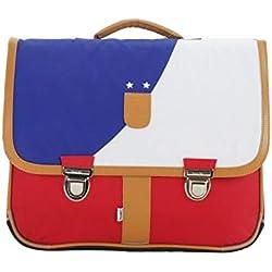 Bagtrotter MSNI10FOOT Miniseri Cartable Taille 39,5 x 16 x 33 cm, Coloris Bleu/Blanc/Rouge, Multicolore
