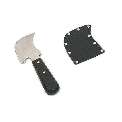 quarto di luna crescente spatola, coltello e fodero in pelle di sicurezza della-pavimento in vinile