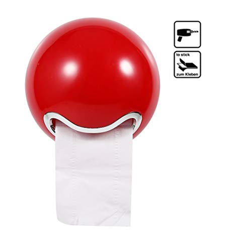 Yosoo Süße Kugel als Toilettenpapier-Spender rot