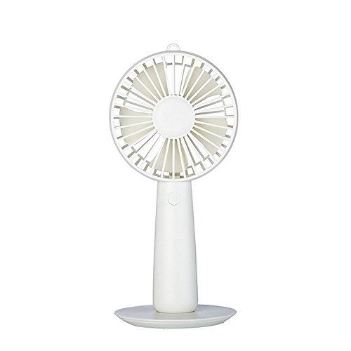 Preisvergleich Produktbild LEYIJU Mini-USB-Handventilator Effektive Luftkühler,  mit Kosmetikspiegel Funktion,  Dual-Use-Produkt,  Größe 9, 5 * 9 * 20Cm, White
