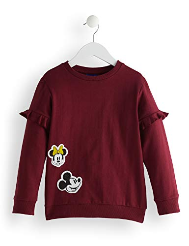 RED WAGON Mädchen Minnie Mouse Sweater Sweatshirt, Rot (Tawny Port), 104 (Herstellergröße: 4)