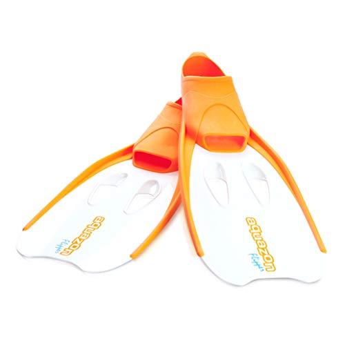 Aquazon Flossen, Schnorchelflossen, Schwimmflossen, Tauchflossen Flipper Für Kinder, Jugendliche Und Damen 36-37 Orange