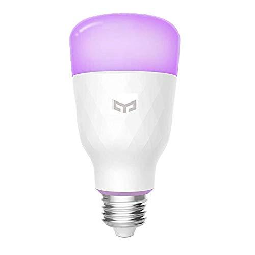 Smart LED Glühbirne, 16 Millionen Farben E27 10W RGB Dimmbare 800lm Weißlicht Wi-Fi-Steuerung Smart Home App Fernbedienung