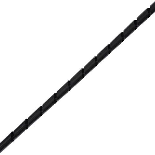Helos Spiral-Kabelschlauch  ø  4 - 50 mm, 10 m schwarz  Kabelmanagement , zuschneidbar, zum Bündeln von Kabeln , flexibel einsetzbar -