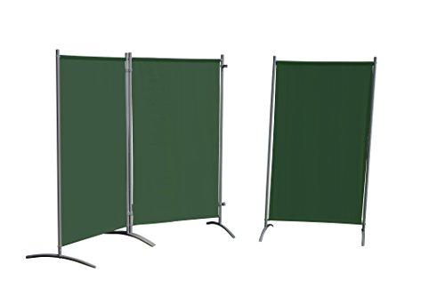 Leco Sicht- und Windschutz, Stellwand, grün, 260 x 156 x 1 cm, 05410107