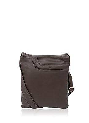 Women's Alexis Soft Grained Leather Cross Body Pocket Bag w/Tassel Detail