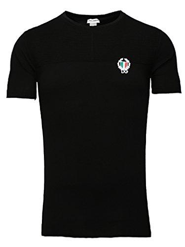 dolce-gabbana-underwear-herren-t-shirt-sport-crest-rundhals-schwarz-o-weiss-farbe-schwarz-grosse-5-m