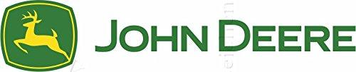 Sticker-Designs 95cm! Aufkleber-Folie Wetterfest Made IN Germany John-Deere Schrift AE83-UV&Waschanlagenfest-Auto-Vinyl-Sticker Decal Profi Qualität bunt farbig Digital-Schnitt! (John Deere Motorhaube)