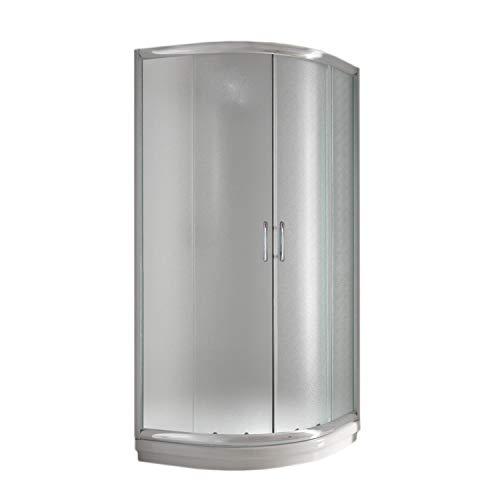 Eckeinstieg Duschkabine Runddusche 90x90 H185 Satiniert 5mm Glas Mod. Alabama