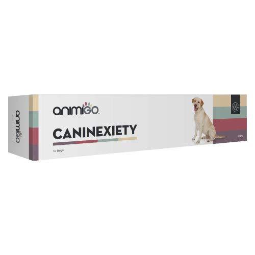 Animigo Caninexity - Calmantes para Perros - Ideal para Relajar A Tu Perro Durante Viajes, Tormentas U Otras Situaciones - Ingredientes Naturales Y Sin Efectos Somnolientos - 30ml, Sabor Carne Asada