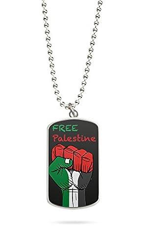 Kette Dog Tag Palästina Gaza 4