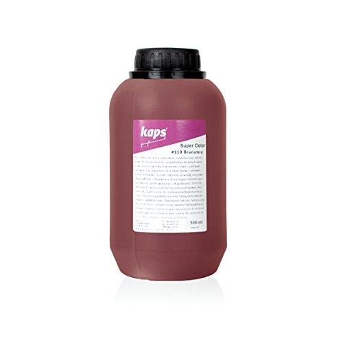 Kaps Super Color Lederfarbe für Naturleder, Synthetik und Textil, Lederfärber, 500 ml Color Braun 110