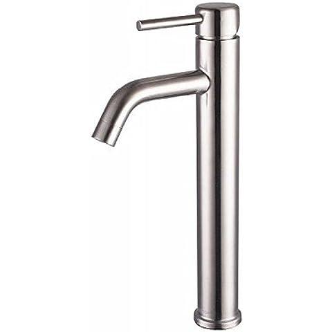 Piteng™ finitura nichel contemporaneo 304 sus acciaio inox singolo foro maniglia singola alta bagno rubinetto del bacino