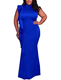 Saoye Fashion Vestiti Donna Eleganti Lunghi Abiti da Cerimonia Estivi  Vintage Nobile Taglie Forti Ragazze Giovane ddf1bffa08f