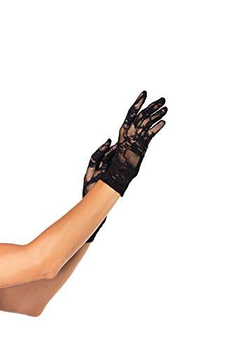 Stretch-spitzen Handgelenk Handschuhe (Leg Avenue Spitzenhandschuhe , 1 Stück)