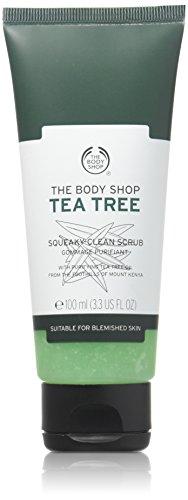 The Body Shop Tea Tree Squeaky-Clean Scrub unisex, Tea Tree Gesichtspeeling 100 ml, 1er Pack (1 x 100 ml) (Tea Tree Peeling)