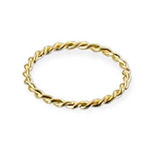 14K Gold Twisted Seamless Ring, Gauge: 18(1.0mm)