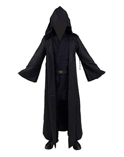 Yeweiwenhua Film Robe Cosplay Volles Set Schwarze Robe Mantel Tunika Hosen Kostüm Cosplay Outfit (S, ()