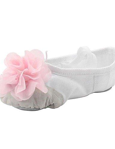 Kids' Ballet/Women's Appartements Fleur Toile Chaussures de danse (plus de couleurs) pour les filles de ballet White