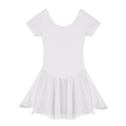 Yoliki Eislauf Training Kürkleid Kinderkleidung Mädchen Ballet Gymnastik Anzug Neu (Weißes Kleid Anzüge)