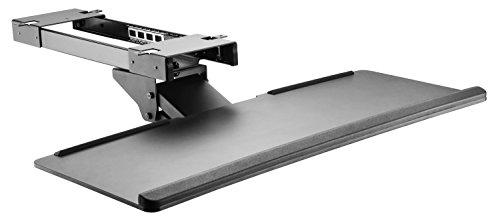 RICOO Tastaturauszug CZ0200 Tastaturhalter Tastaturhalterung Ergonomisch Computer PC Tastatur Schreibtisch Halterung Keyboard Unter Tisch Untertisch Halter Schwenkbar Neigbar Schwarz
