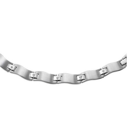 Oliver Weber 600 - Collar de hombre de acero inoxidable con cristales Oliver Weber