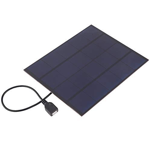 Alomejor 5W Solar Panel Ladegerät Wasserdichtes Tragbares USB Outdoor Solar Panel Ladegerät mit USB Kabel für Smartphone Tablet Kamera Powerbank und Camping Travel