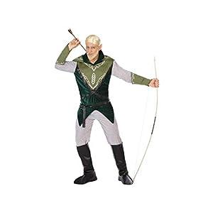 Atosa-54514 Atosa-54514-Disfraz Duende-Adulto XL-Hombre, Color verde (54514