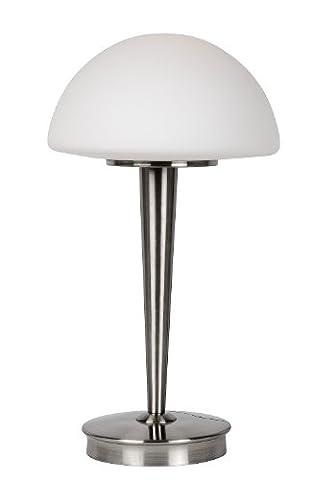 Lucide TOUCH - Tischlampe - Ø 23 cm - Chrom Matt