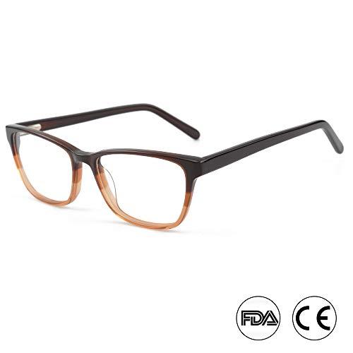 Blaulichtfilter Brille mit Anti Augenmüdigkeit Blendschutz UV400 für alle digitalen Bildschirme (A15609C1 BRAUN)