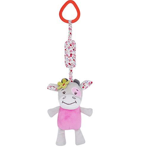 Neugeborenes weiches Baby Teddybär Puppen Spielzeug Geschenk kuscheln Baby Decken Tierwindspiel Bett Glocke Plüschtier YunYoud Kinder Spielzeug Angebote online spielzeughandel
