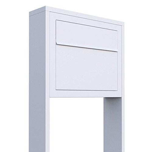 Standbriefkasten, Design Briefkasten Elegance Stand Weiß - Bravios