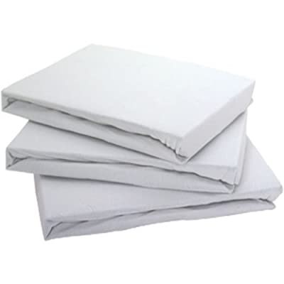 Jersey 100% Cotton Fitted Sheet White