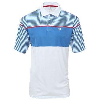 Insel grün Herren igts1461Yarn Dye Engineered Stripe Polo Shirt L weiß -