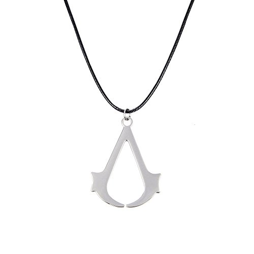lureme® Women's Men's Assassin's Creed Cosplay Pendant Halskette Silber Tone(01003565)