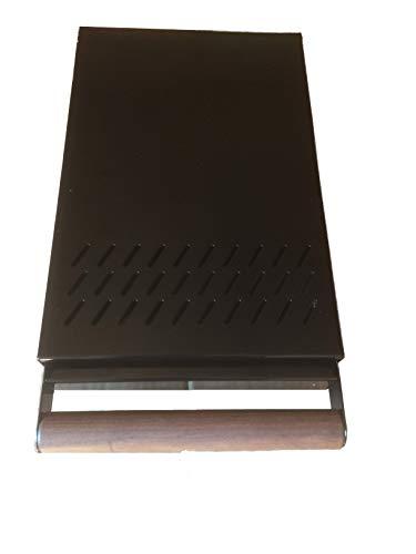 Kaffeesatz Schublade Profiline S grösse 20 x 30 x 5,5 cm der Abklopstab ist austauschbar mit edlem Holzgriff- Abschlagschublade schwarz beschichtet -