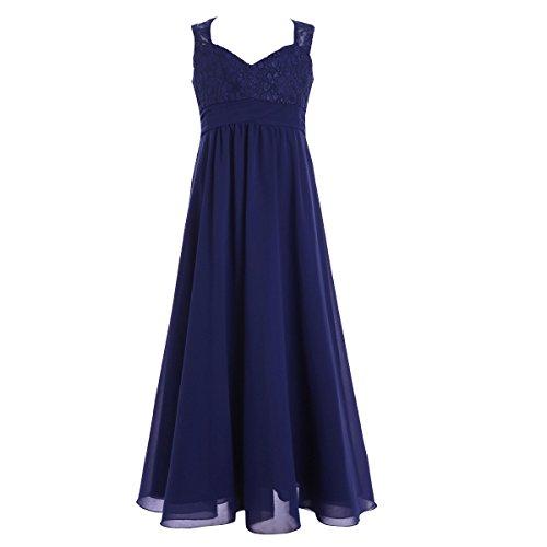 iiniim Mädchen Prinzessin Festlich Kleid Bodenlang Chiffon Kleid Brautjungfern Hochzeitskleid...