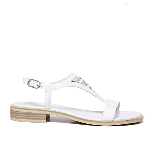 Nero Giardini P805802D 707 Bianco Sandalo Donna - 37